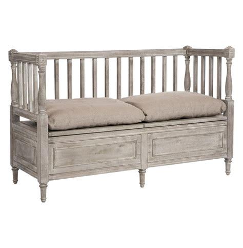 settee loveseat bench damita country weathered grey storage bench sofa