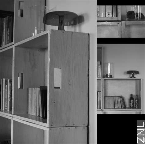 libreria con cassette di legno libreria cassette di legno tinte con vernice all acqua