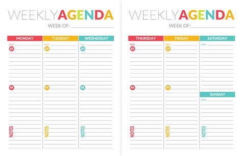 School Planner Template Planner Template Free Free Printable Weekly Planner For School