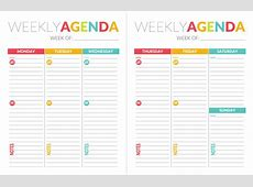 free printable weekly planner for school