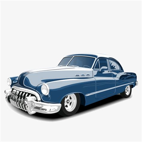 Vector Vintage Cars, Cars Clipart, Classic Cars, Blue Png