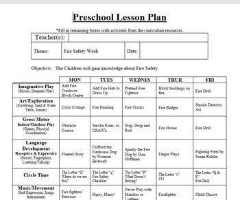 preschool infant lesson plan and detailed activities 207 | original 2803971 1