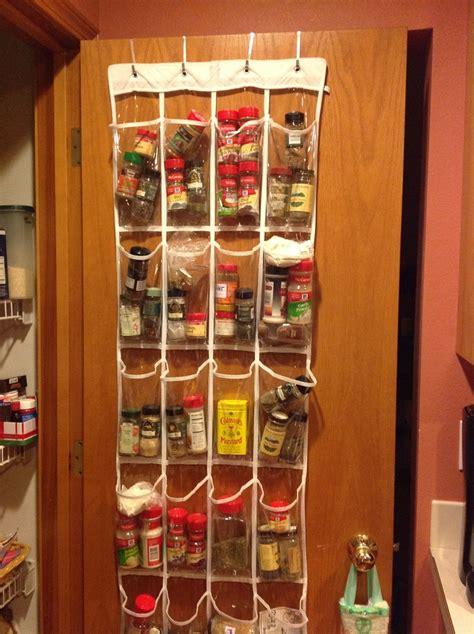 spice rack solution   door shoe pockets