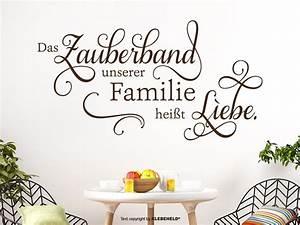 Wandtattoo Sprüche Familie : wandtattoo zauberband liebe von klebeheld de ~ Frokenaadalensverden.com Haus und Dekorationen