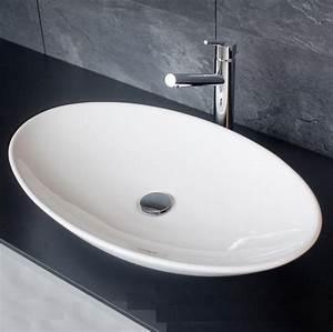 Waschbecken Oval Aufsatz : aufsatz waschbecken keramik oval 70x43cm ~ Orissabook.com Haus und Dekorationen
