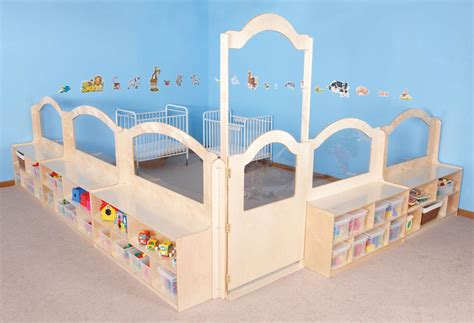 mainstream wave infant room divider system play with a 148 | p 88125 wood classroom divider clean