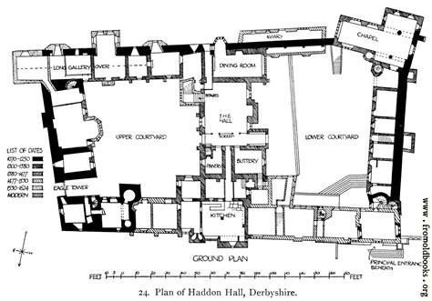plan  haddon hall derbyshire