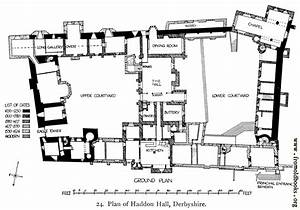 24  Plan Of Haddon Hall  Derbyshire