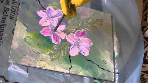 acrylmalerei fuer anfaenger apfelblueten acrylic painting