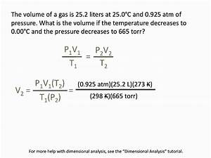 Pressure  Volume And Temperature Relationships