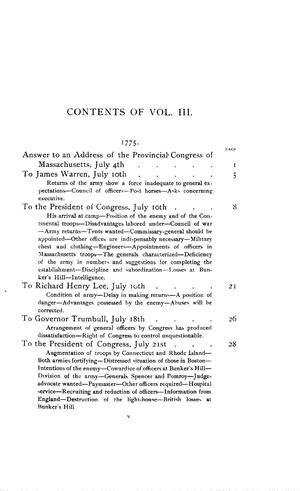 The Writings of George Washington, vol. III (1775-1776
