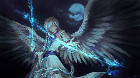 anime angel boy  magical arrow  hd