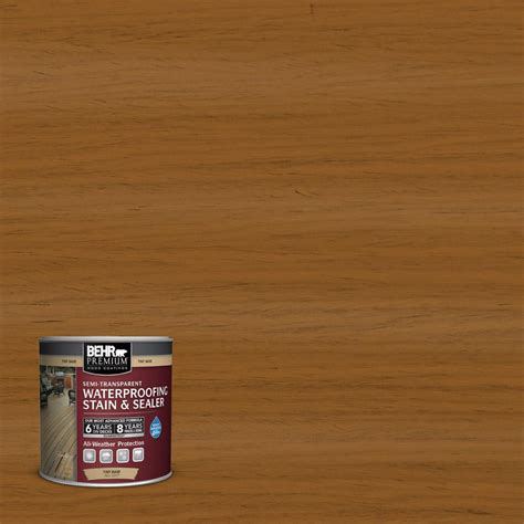 Behr Premium Deck Stain Home Depot by Behr Premium 8 Oz St134 Curry Semi Transparent