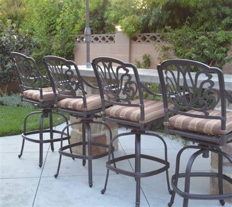 elizabeth outdoor patio set 4pc swivel bar stools 30 cast