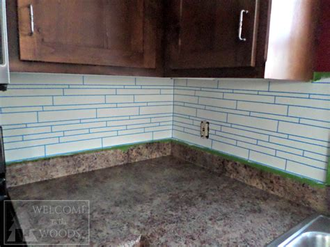 faux tile  splash  paint    woods