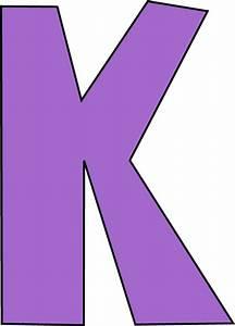Purple Letter K Clip Art - Purple Letter K Image