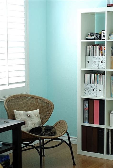 turquoise wall paint transitional denlibraryoffice