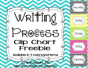 writing process clip charts  tessa maguire teachers