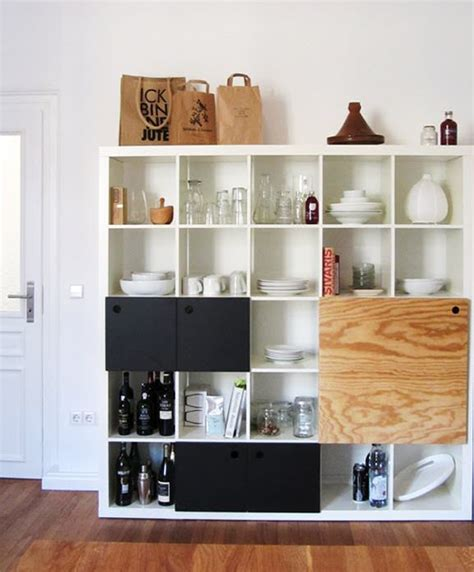 kitchen shelving units different ways to use style ikea s versatile expedit shelf