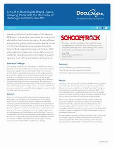 School of rock netsuite crm docusign case study for Netsuite document management