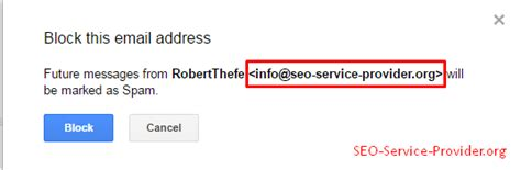 seo service provider suggestion to improve gmail s block feature