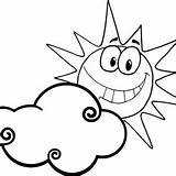 Coloring Sun Sunrise Clouds Behind Smiling Designlooter Protect 16kb 300px Drawings sketch template