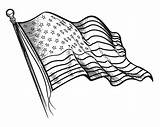 Flag Coloring Printable Drawing States United Line Flags Patriotic Adult Getdrawings Countries History sketch template