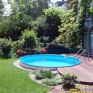 die besten 25 garten pool ideen auf pinterest aussenpool With französischer balkon mit pool garten rund