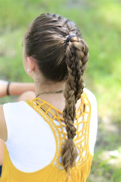 cute easy hairstyles for sports the run braid combo hairstyles for sports cute girls