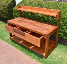 Reclaimed Wood Potting Bench