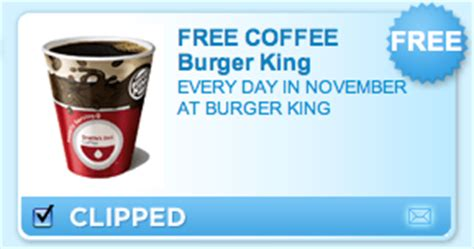 The official facebook page for burger king us. Burger King Coupon - Free Coffee Every Day In November ...