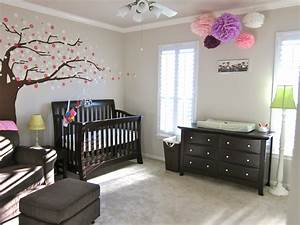 baby girl39s simple neutral nursery project nursery With simple decorating girl nursery design