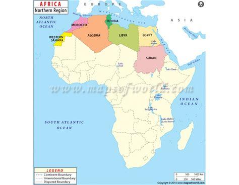 buy north africa region map
