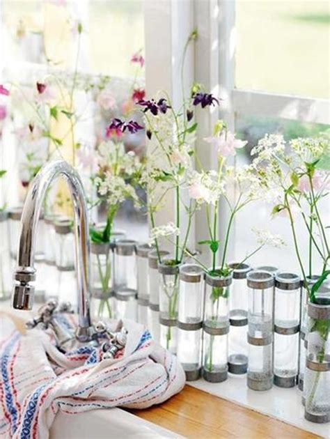 flower decorations for home flower decor in window kitchen