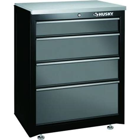 Husky 27 In 4 Drawer Base Cabinet 27bc401bp Thd The