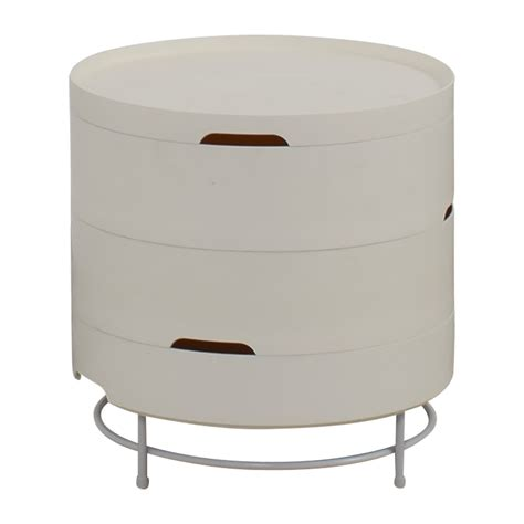57% Off  Ikea Ikea Ps 2014 White Round Storage Table Tables
