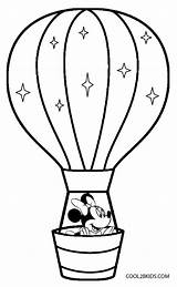 Balloon Coloring Air Printable Cool2bkids sketch template