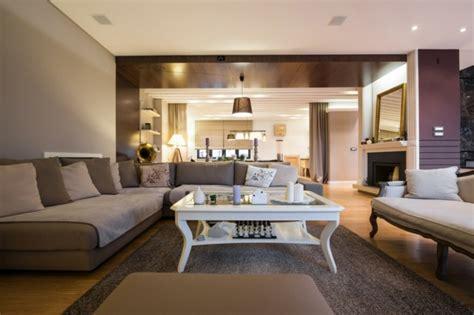 canape blanc gris déco salon gris et taupe pour un intérieur raffiné ideeco
