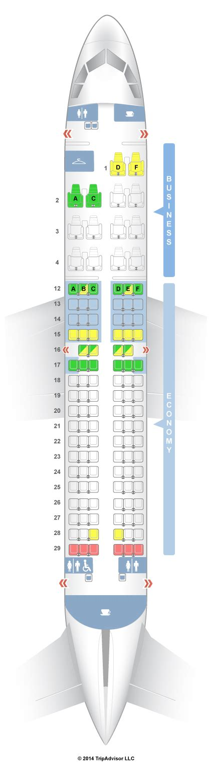 siege avion easyjet seatguru seat map air canada airbus a319 319