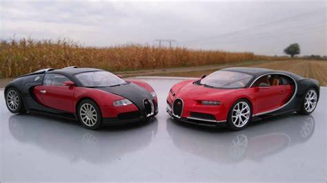 Bugatti Veyron And Chiron by Bugatti Veyron Vs Chiron 1 18 Diecast