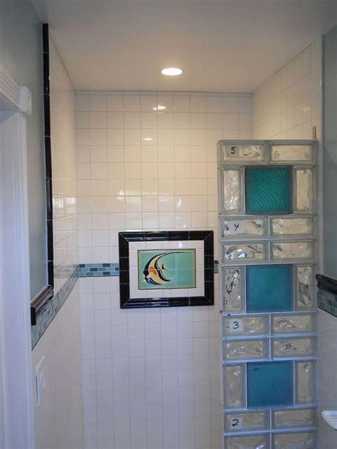 glass blocks wall ideas  pinterest