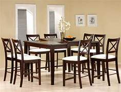 Cappuccino Finish Counter Height Dining Room Set  Counter Height Dining Sets