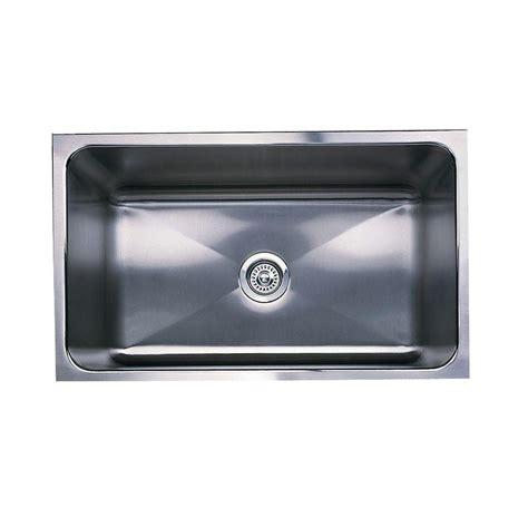 blanco single bowl sink blanco magnum undermount stainless steel 31 in single