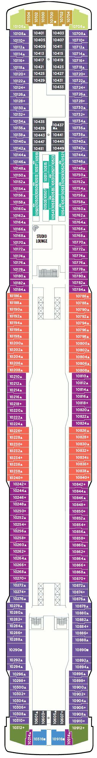 Breakaway Deck Plans 10 by Balcony Cabin 10900 On Breakaway Category Bd