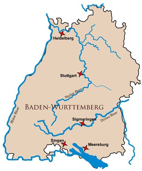 The airport itself is part of baden airpark, a business park with numerous other tenants. Map of the German state of Baden-Wurttemberg   Map ...