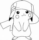 Coloring Pages Funny Pikachu sketch template