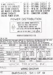 2003 - 2004 Mack Wiring Diagram Chassis Series Rb - Rd