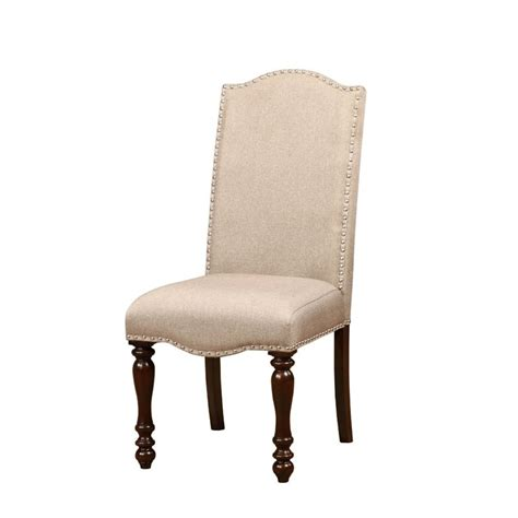 furniture of america naveah upholstered dining chair set