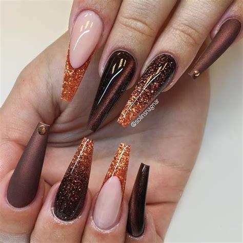 Black gloss extra long ballerina false press on nails. 42 Magnetic Hues To Flatter Coffin Nails ...