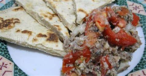 bakesada roti sardine choka trini food snacks